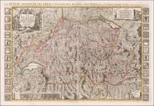 Switzerland Map By Alexis-Hubert Jaillot / Pierre Mortier