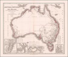 Australia Map By Heinrich Kiepert