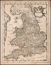 England Map By Sir Jonas Moore