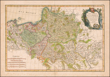 Poland and Baltic Countries Map By Giovanni Antonio Rizzi-Zannoni
