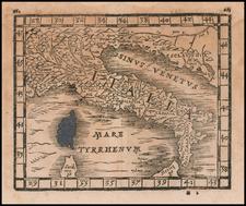 Italy Map By Johann Honter