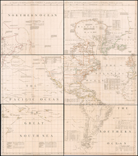 Pacific Ocean, North America and Pacific Map By Thomas Jefferys / Bradock Mead