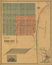 Texas Map By Clarke  & Courts, Litho.