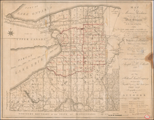 New York State Map By Joseph Ellicott