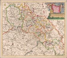 Poland and Czech Republic & Slovakia Map By Theodorus I Danckerts