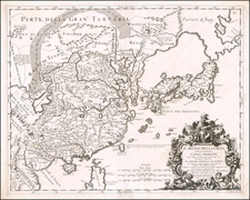 China, Japan and Korea Map By Giacomo Giovanni Rossi - Giacomo Cantelli da Vignola