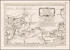 Polar Maps, Pacific Northwest, Alaska, Canada and Russia in Asia Map By Jacques Nicolas Bellin