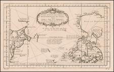 Polar Maps, Alaska and Canada Map By Jacques Nicolas Bellin