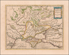 Russia and Ukraine Map By Jodocus Hondius - Gerhard Mercator