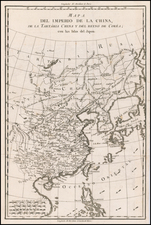 China, Korea and Russia in Asia Map By Pedro de Gongora y Lujan,  Duque de Almodovar