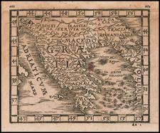 Greece Map By Johann Honter