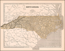 North Carolina Map By Sidney Morse  &  Samuel Breese