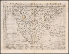 South Africa and African Islands, including Madagascar Map By Giacomo Gastaldi