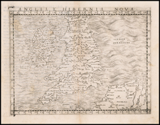 British Isles Map By Giacomo Gastaldi