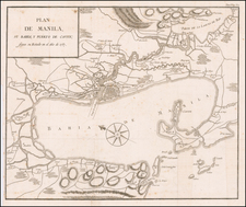 Philippines Map By Pedro de Gongora y Lujan,  Duque de Almodovar