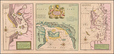 Chile and Peru & Ecuador Map By Herman Moll