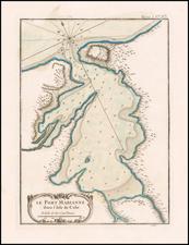 Cuba Map By Jacques Nicolas Bellin
