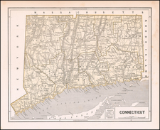 Connecticut Map By Sidney Morse  &  Samuel Breese