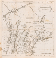 New England, Maine, New Hampshire and Vermont Map By William Gordon