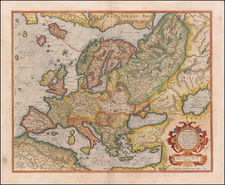 Europa ad magnae Europae Gerardi Mercatoris P. imitationem Rumoldi Mercatoris . . . By Gerhard Mercator