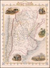 Argentina and Chile Map By John Tallis