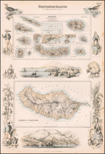 Portugal and European Islands Map By Archibald Fullarton & Co.