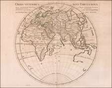 Eastern Hemisphere Map By Guillaume De L'Isle
