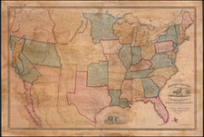 United States, Texas, Plains, Southwest and Rocky Mountains Map By John Reed  &  John Warner Barber