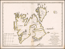 Polar Maps, Russia and Scandinavia Map By Georges Louis Le Rouge