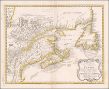 New England and Eastern Canada Map By Homann Heirs