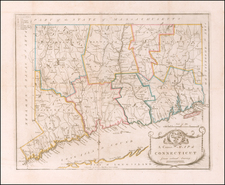 Connecticut Map By Amos Doolittle