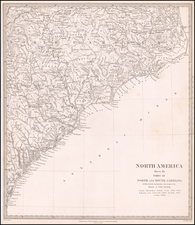 North Carolina and South Carolina Map By SDUK