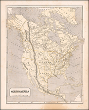 North America [Republic of Texas!] By Sidney Morse  &  Samuel Breese