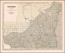 Wisconsin Map By Sidney Morse  &  Samuel Breese
