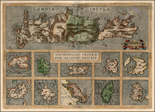 Europe, Greece, Mediterranean and Balearic Islands Map By Abraham Ortelius