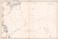 Pacific Ocean, China, Japan, Korea, Philippines and Other Pacific Islands Map By British Admiralty