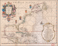 United States and North America Map By Anthonie (Theunis)   Jacobsz
