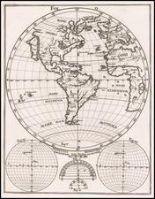 Western Hemisphere, California as an Island and America Map By Heinrich Scherer
