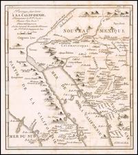 Southwest, Mexico, Baja California and California Map By Fr. Eusebio Kino