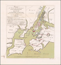 New York City, New York State and Mid-Atlantic Map By Georges Louis Le Rouge