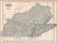 Kentucky and Tennessee Map By Sidney Morse  &  Samuel Breese