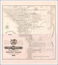 Washington Map By Sylvanus C. Harris
