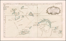 Bahamas and Other Islands Map By Jacques Nicolas Bellin