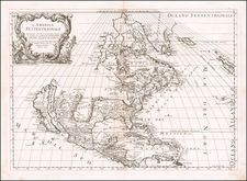 North America and California as an Island Map By Giacomo Giovanni Rossi