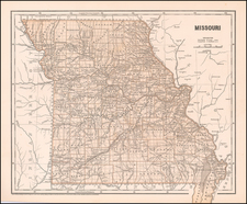 Missouri Map By Sidney Morse  &  Breese