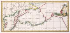 Polar Maps, Alaska and Russia Map By John Cary