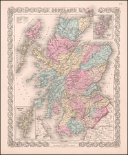 Scotland Map By G.W.  & C.B. Colton