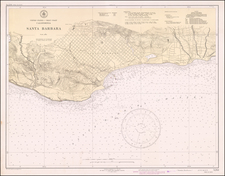 California and Other California Cities Map By U.S. Coast & Geodetic Survey
