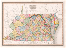 Maryland, Delaware and Virginia Map By Henry Schenk Tanner