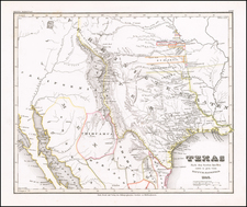 Texas, Oklahoma & Indian Territory, Southwest, Colorado, New Mexico and Colorado Map By Joseph Meyer